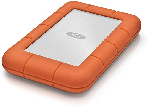 LaCie Rugged Mini 1TB External Hard Drive Portable HDD  USB 3.0 USB 2.0 compatible, Drop Shock Dust Rain Resistant Shuttle Drive, for Mac and PC Computer Desktop Workstation PC Laptop (LAC301558)