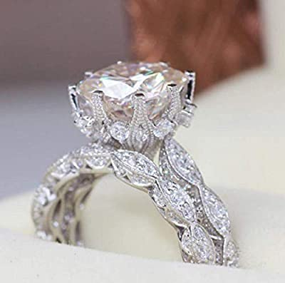 100% Solid Sterling Silver,nickel free. Jewellery High Quality AAA Cubic Zirconia Engagement Wedding 925 Sterling Silver --- 2 in 1 chic women's white diamond ring set wedding engagement jewelry gift Ring Size: US code 6、 7 、8 、9 、10 Suitable for dan...