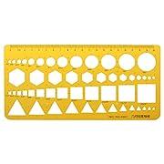 WuLi77 Zeichenschablonen, Kunstharz, Kreise, Quadrate, Dreieck, geometrische Schablone, Lineal für Zeichnen, Technik, Zeichnen, Gebäude, Schule, Bürobedarf