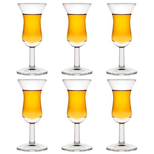 Libbey Nivah Cordial - Bicchierini da liquore, 50 ml/5 cl, 6 pezzi, lavabili in lavastoviglie