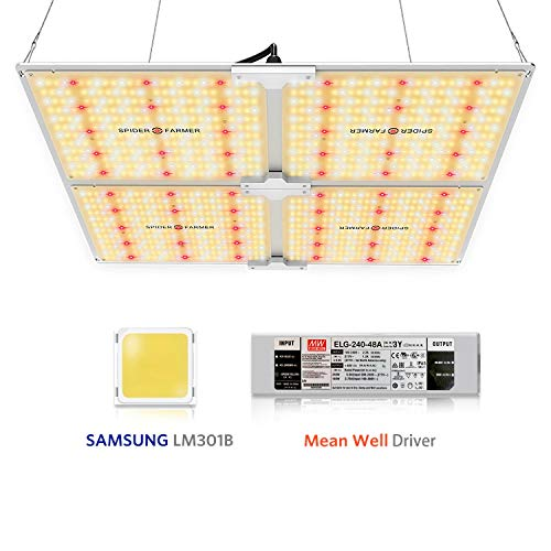 Spider Farmer SF-4000 LED Grow Light, with Samsung Chips & Dimmable Mean Well Driver, Full Spectrum 3000K 5000K 660nm 760nm IR for Indoor Plants (1212pcs LEDs)