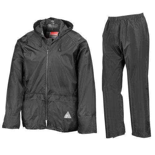 Result - Veste et pantalon de pluie - Homme (L) (Noir)