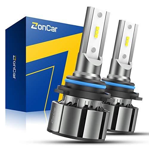 ZonCar 9006 / HB4 LED Headlight Bulbs, Low Beam/Fog Light Halogen Replacement, 2 Pcs/Kit, 12 CSP Chips, 6500K Xenon White Extremely Bright Light 12V