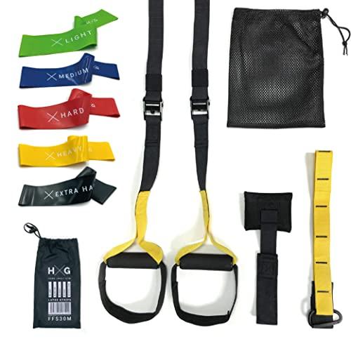 JOWY Pack Entrenamiento Suspension Trainer y Bandas Elasticas,...