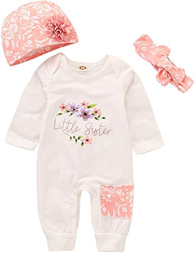 Baby Girl Clothes Little Sister Newborn Outfit Print Long Sleeve...