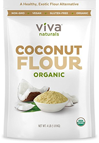 Organic Coconut Flour (4 LBS) - Perfect for Gluten Free Baking, Paleo & Vegan Certified, Unbleached & Unrefined Baking Flour Substitute, 1.81 kg