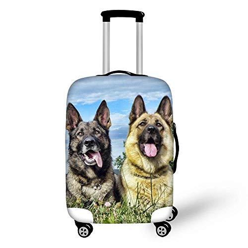 BBOOXX 3D Copri Valigia,Elastico Carrello Animale Domestico Cucciolo Stampa Bagaglio Astuccio Copertine protettore Adatto per Ragazzo Ragazza Turismo Viaggio di Lavoro H-M(22-24in)
