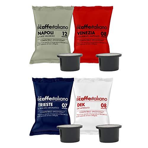 Il Caffè Italiano - UNO System 100 Capsule compatibili - Kit Degustazione Tour d'Italia con varie intensità - Frhome