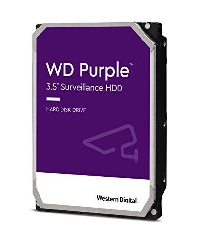 Western Digital WD82PURZ WD Purple Hard Disk per Videosorveglianza con Tecnologia Allframe 4K 3.5 Pollici SATA 6 GB/s 180TB/Anno, 64 MB Cache, 7200 RPM, 8 TB