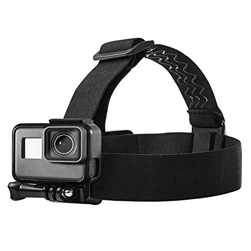 Topmener Fascia da Testa Elastica Regolabile per Fotocamera/videocamera per Action Cam