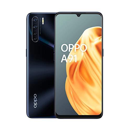 OPPO A91 Smartphone , Display 6.7'' AMOLED, 4, Fotocamere, 128 GB Espandibili, RAM 8 GB, Batteria 4025 mAh, Dual Sim, 2020, Versione italiana], Lightening Black