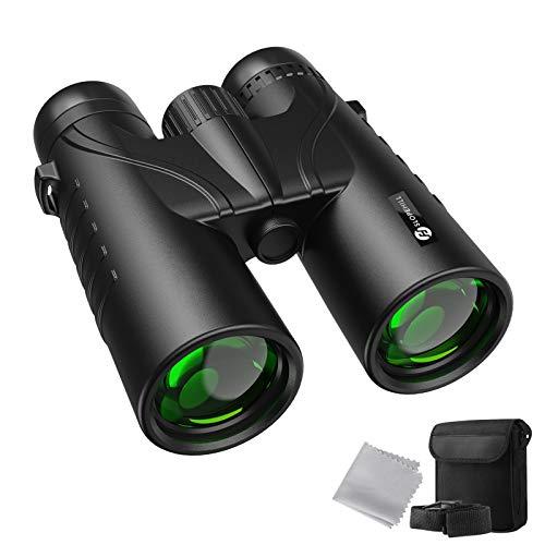 Binocolo Professionale, Slopehill 12X42 Portatile HD Binocoli Compatto Anti-Fog Funzione di Visione Notturna Bassa e IP55 Materiali impermeabili per Birdwatching, Caccia, Viaggi, Concerti