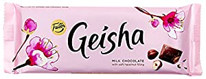 2 Bars X 100g of Fazer Geisha Finnish Classic Milk Chocolate with Soft Hazelnut Filling
