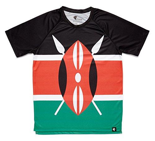 HOOPOE Camiseta Atletismo Kenia Hombre, Manga Corta, Running,...