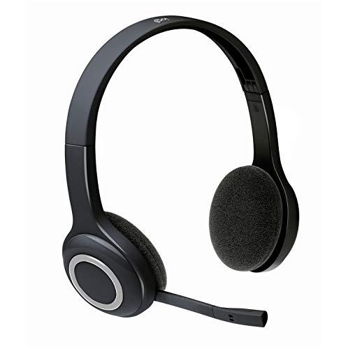 Logitech H600 Kabellose Kopfhörer mit Mikrofon, Stereo-Headset, Rotierendes Mikrofon mit Rauschunterdrückung, Wireless USB-Empfänger, 10m Reichweite, Lange Batterielaufzeit, PC/Mac/Laptop - Schwarz