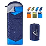 oaskys Camping Sleeping Bag - 3 Season Warm & Cool Weather - Summer, Spring, Fall, Lightweight, Waterproof for Adults & Kids - Camping Gear Equipment, Traveling, and Outdoors