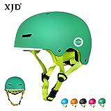 XJD Toddler Helmet Kids Bike Helmet CPSC Certified Adjustable Bicycle Helmet Kids Cycling Helmet Safety Helmet Skateboard Longboard Roller Skate Inline Skating Scooter 8-13 Years Old Helmet (green, M)