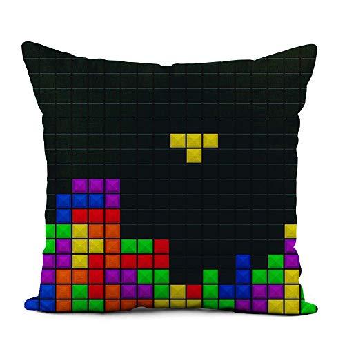 Federa per Divano,Copricuscino,Federa per Cuscino,Tetris Old Video Game Brick Pieces Fodera per...