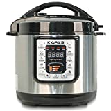 KAPAS Smart Electric Pressure Cooker, 6.4 Qt 10-in-1 Multi-Use Cooker with Cooking Accessory for...