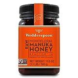 Wedderspoon Raw Premium Manuka Honey KFactor 16+, Unpasteurized, Genuine New Zealand Honey, Multi-Functional, Non-GMO Superfood, 17.6 Ounce