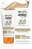 Garnier Crema con Color Protector Solar BB Sun Delial para rostro y Escote con...
