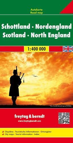 Escocia y norte de Inglaterra, mapa de carreteras. Escala 1:400.000. Freytag & Berndt.: Wegenkaart 1