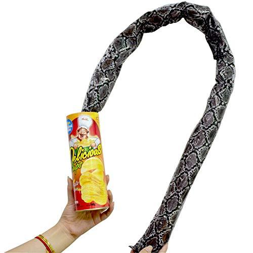 JKCKHA 整蛊おもちゃ 飛び出す ポテトチップス びっくり箱 蛇が飛び出す おもちゃ エイプリルフールの日 整蛊玩具 人工ヘビ ドッキリ玩具 面白 い スネーク プレゼント パーティー用品 パーティー ジョークグッズ