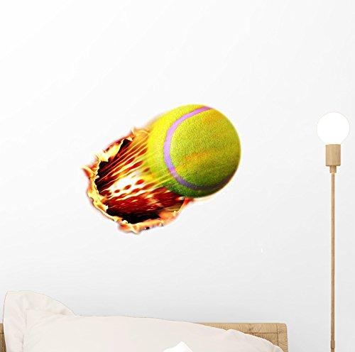 Wallmonkeys Tennis Ball Flames 12