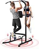 MaxKare Power Tower Pull Up Bar Dip Station Strength Training Workout Equipment for Professional Home Gym with 420 Lbs Capacity