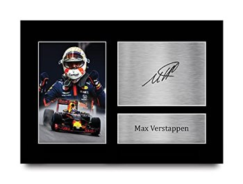 HWC Trading A4 Max Verstappen Formula 1 Gifts Printed Signed Autograph Picture for F1 Formula 1 Racing Fans