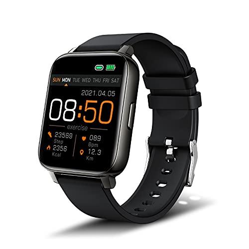 Smartwatch, 1,69'' TFT Orologio Fitness Tracker Uomo Donna Smart Watch Sonno Cardiofrequenzimetro, IP68 Impermeabile Sportivo Activity Tracker Contapassi Cronometro, Smartband, Notifiche Messaggi