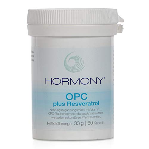 Hormony® OPC plus Resveratrol | Mit wertvollem Traubenkernextrakt - 60 Kapseln