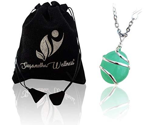 Natural Aquamarine Crystal Healing Pendant - For Throat...