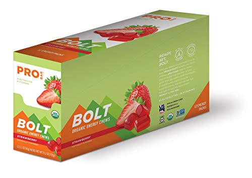 PROBAR - Bolt Organic Energy Chews, Strawberry, Non-GMO, Gluten-Free, USDA Certified Organic, Healthy, Natural Energy, Fast Fuel Gummies with Vitamins B & C (12 Count) 5