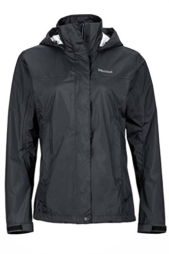 Marmot Women's PreCip Waterproof Rain Jacket, Black, Medium