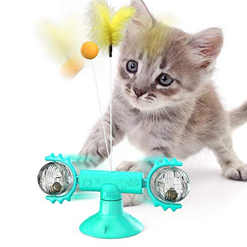 Juguetes interactivos para Gatos, con Plumas y con molinete Giratorio