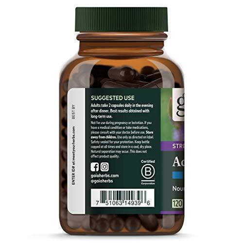 Gaia Herbs Adrenal Health Nightly Restore, Calming Sleep and Stress Support, Ashwagandha, Reishi, Cordyceps, Lemon Balm, Vegan Liquid Capsules, 120 Count 3