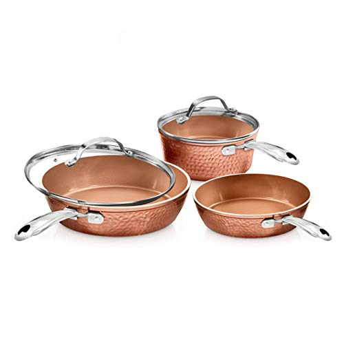 Gotham Steel Premium Hammered Cookware – 5...