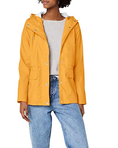 ONLY Damen Regenmantel 15149322, Gelb (Yolk Yellow Yolk Yellow), 38 (Herstellergröße: M)
