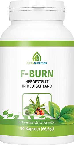 Green Nutrition | F-Burn mit Grüntee-Extrakt | 90 Kapseln - 100{c654ad1ff89afe898d675b4df0050159389aa14c80695cfe7e0eae7cd0d78846} Natürlich