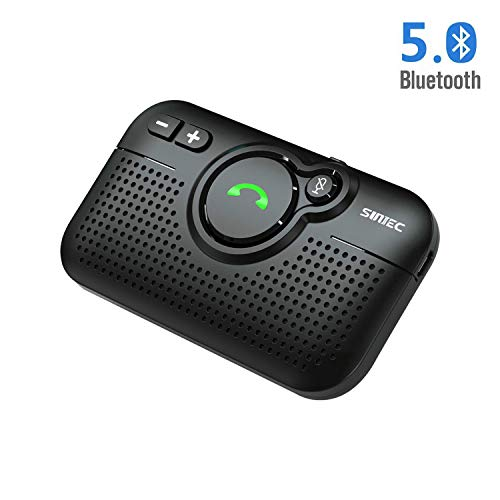 SUNITEC Handsfree Bluetooth for Cell Phone - Bluetooth 5.0 Car Speaker Motion AUTO ON Siri Google...