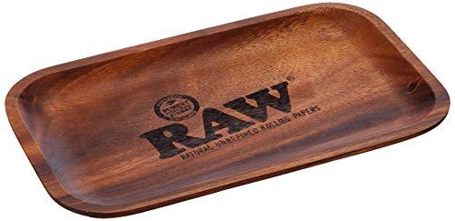 RAW Bandeja con Ruedas (27,5 x 17,5 cm), Madera, marrón, Medium