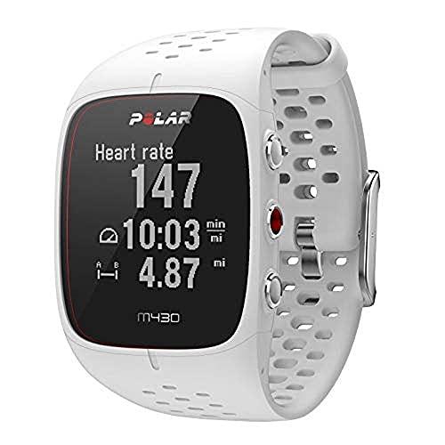 Polar M430, Orologio GPS Multisport con Cardiofrequenzimetro Integrato Unisex-Adulto, Bianco, M-L