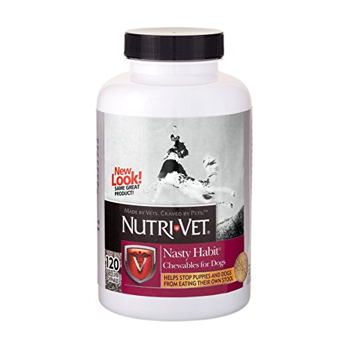 Nutri-Vet Nasty Habit Chewables for Dogs   Veterinarian Formulated   120 Count