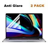 2 Pack FORITO Anti Glare(Matte) Screen Protector Compatible MacBook Pro 16 Inch 2019 Released Model A2141 with Touch Bar and Touch ID, with Anti Dust and Finger-Print Coating