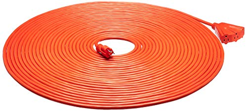 AmazonBasics 12/3 Outdoor Extension Cord with 3 Outlets, Orange, 100 Foot