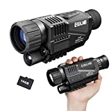 ESSLNB Night Vision Monocular 5X40 Night Vision Infrared Monocular with 1.5' TFT LCD Take Photos and Videos Playback Function 16G TF Card Digital Night Vision Scopes for Hunting Security Surveilla