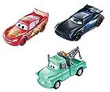 Disney Cars coches que cambian de color pack de 3 escala 1:55, coches de juguete (Mattel GPB03)