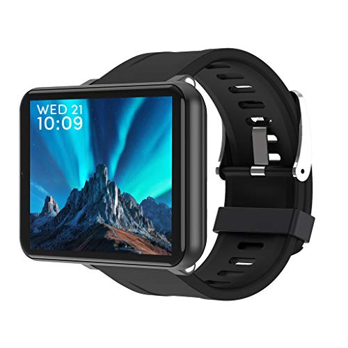 Lumumi Men Women 4G Smartwatch, 2.86 inch 3GB+32GB LCD Smartwatch for Android 7.1 with 5MP Camera 2700 mAh Smart Watch GPS Fitness Bracelet (Black)