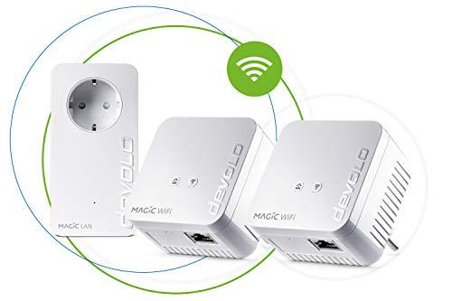 Devolo - Adattatore di Rete Magic 1 WiFi Mini Multiroom Kit (2 x Magic 1 WiFi Mini, 1 x Magic 2...
